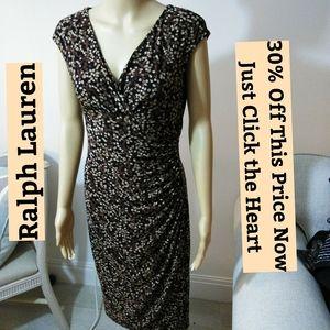 Ralph Lauren Crossover V Neck Dress Sz 6